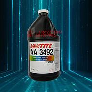 原装进口 乐泰AA3492紫外线固化UV胶 金属玻璃粘接 1L