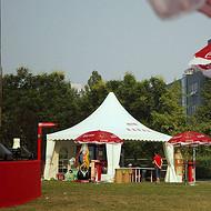 厂家提供可口可乐户外活动尖顶篷房 欧洲品质铝合金多种规格活动尖顶篷出租