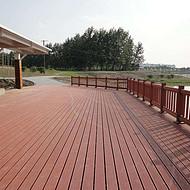 福建塑木木塑栈道地板厂家 木塑护栏围栏栅栏安装