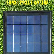 189*179 6V3.5W 多晶太阳能组件 太阳能玻璃层压板