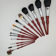 16支高档红色木柄化妆刷OEM 化妆套刷厂家生产加工贴牌