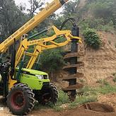 高性能山地岩石电线杆挖坑机价位