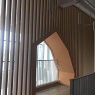 铝方通隔墙 餐厅造型铝方通艺术隔断