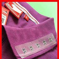 服装码数标签 服装尺码标签 服装码数大小标签 透明尺码标签