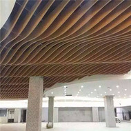 浙江干挂装饰铝方通 热转印木纹弧型铝方通供应商