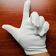 现货销售22克棉毛作业手套汗布手套