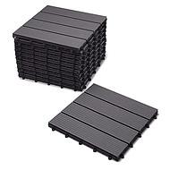 户外仿木地板DIY地板福建木塑厂家花园庭院阳台锁扣地板