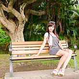 木塑公园椅花园椅休闲椅景观椅广场椅塑木靠背椅