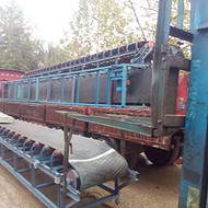 淮南沙场专用输送机 加厚防滑式箱装苹果装车输送机