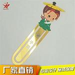 厂家直销 定制黄铜书签 中国风创意烤漆腐蚀金属书签 品质保障