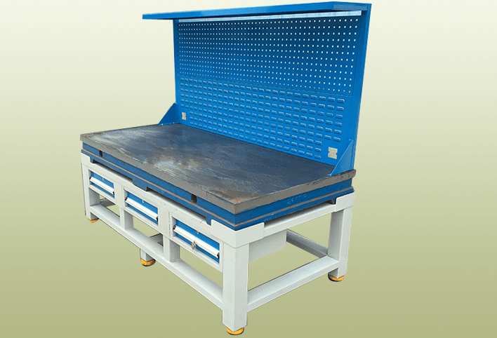 哈尔滨配六个抽屉铸铁模具工作台、钳工装配工作台