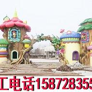 儿童乐园大门游乐园门楼度假村欢乐谷大门冰河世纪方特园雕塑冰雪乐园水上乐园大门