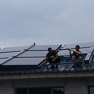 农村太阳能取暖器
