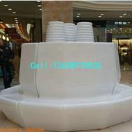 商场中庭花池坐凳 玻璃钢花池休闲椅组合