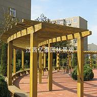 江西水泥仿木长廊安装 吉安小区仿木花架效果图