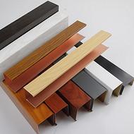 U型铝天花吊顶装饰格栅厂家定做铝合金室内木纹铝型条