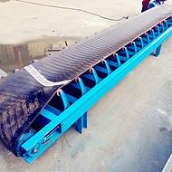 河北水平防滑带输送机  V型槽式散料运输机
