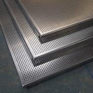 铝天花冲孔铝单板厂家天花板装饰吊顶工程施工铝扣板嵌入式天花板