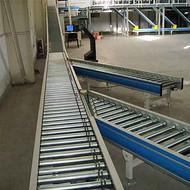 伸缩辊筒输送机铝型材 线和转弯滚筒线承德