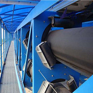 大庆管带输送机 更大的倾斜输送能力绿色环保