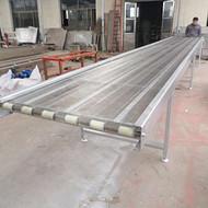 青海爬坡网带输送机 厂家直销水平直线输送