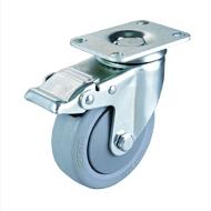 广东工业脚轮批发 中型万向TPR脚轮厂家直销 静音脚轮