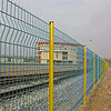 彩色桃形柱_三角折弯护栏网_适用于小区_厂区_公路等各种围栏