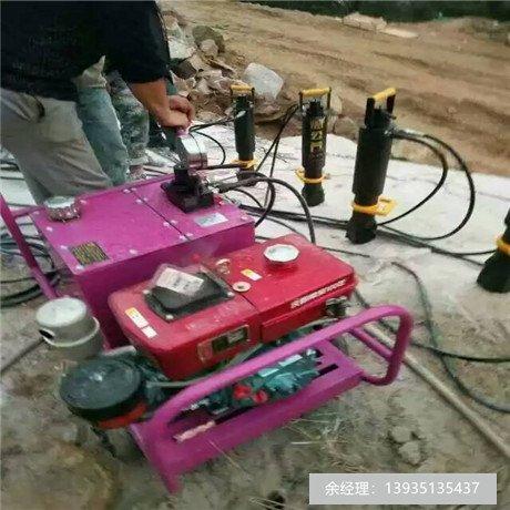四川凉山分石机开挖铝土矿劈裂机
