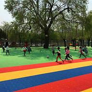 武隆县羽毛球场悬浮式拼装地板实体店