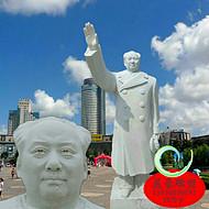 汉白玉毛主席像雕塑石雕毛主席像