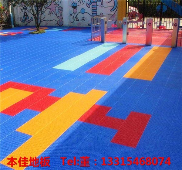 羽毛球场组合拼装地板(离石)可开