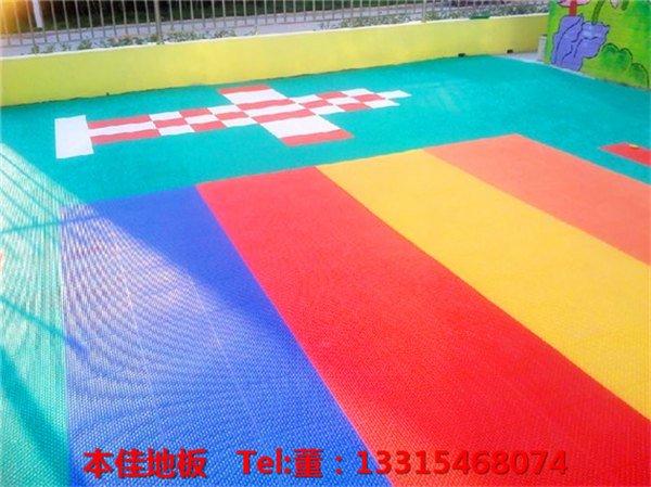 临清市运动场悬浮式拼接地板颜色多样
