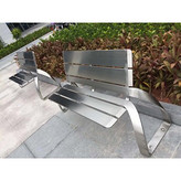 资阳简阳公园椅景观不锈钢坐凳厂家