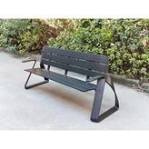 泸州达州公园椅不锈钢景观坐凳厂家