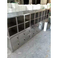 四川雅安不锈钢工作台不锈钢手推车箱柜定制厂家