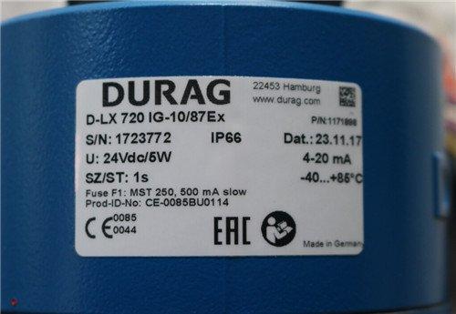 DURAG杜拉格火焰检测器D-LX720IG-10/87EX