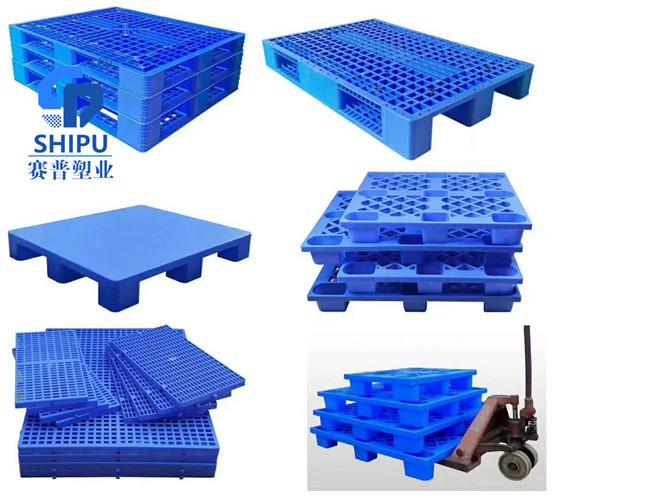 遂宁塑胶地台板 食品级塑料托盘可内置钢管