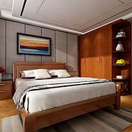 广东惠州 出口柬埔寨 实木家具定做工厂 全屋定制卧室家具 实木大床衣柜