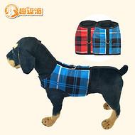 趣逗派宠物服装宠物格子宠物胸背带